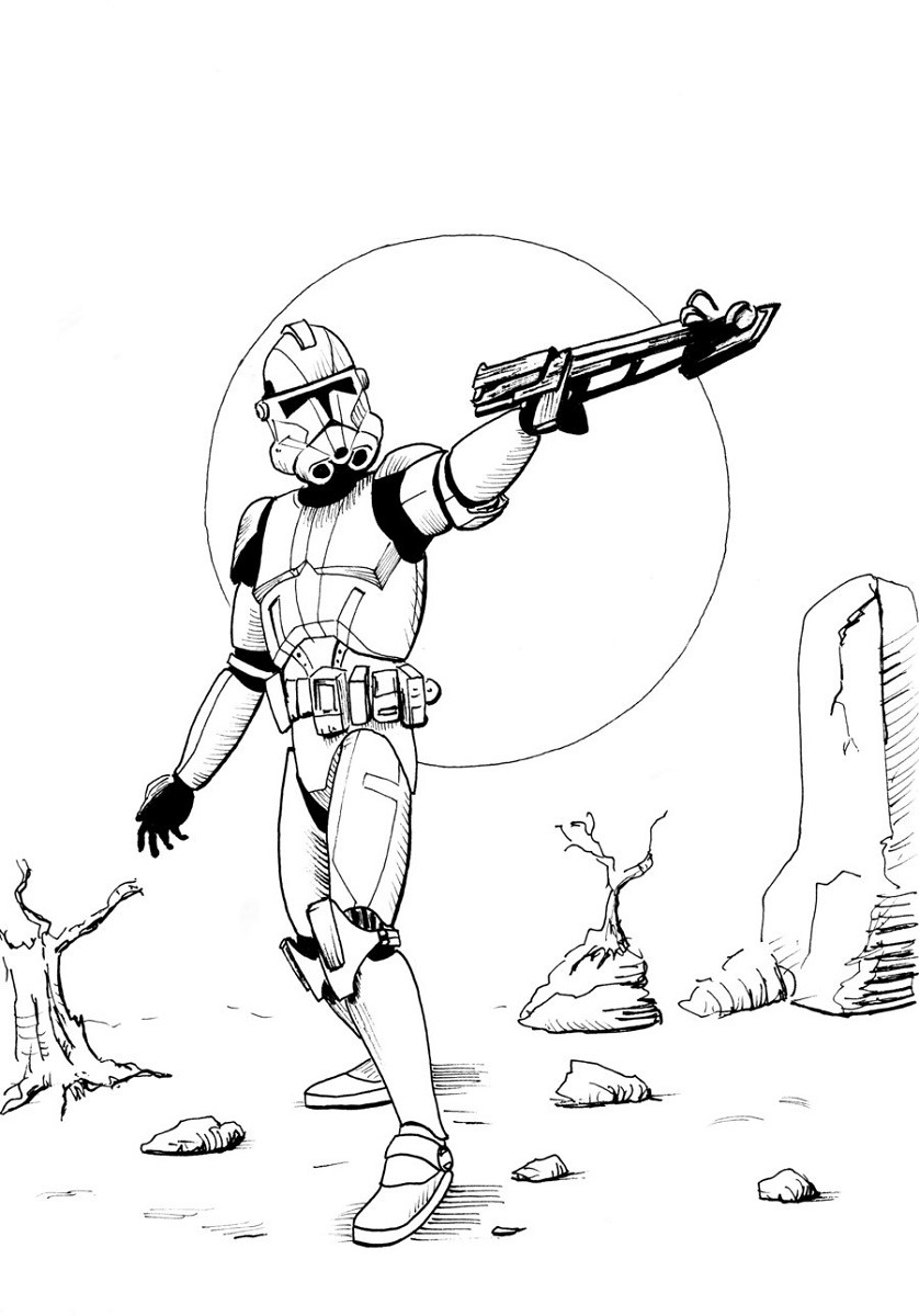Clone Trooper Coloring Pages Printable