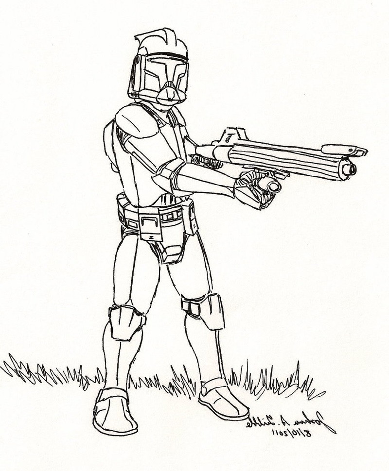 Clone Trooper Coloring Pages Star Wars