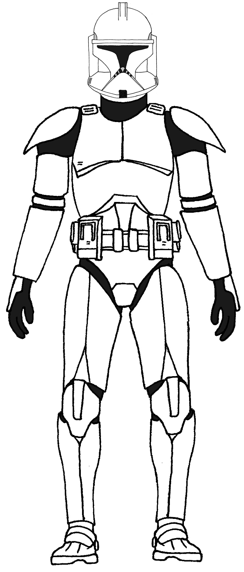 Clone Trooper Coloring Pages To Print
