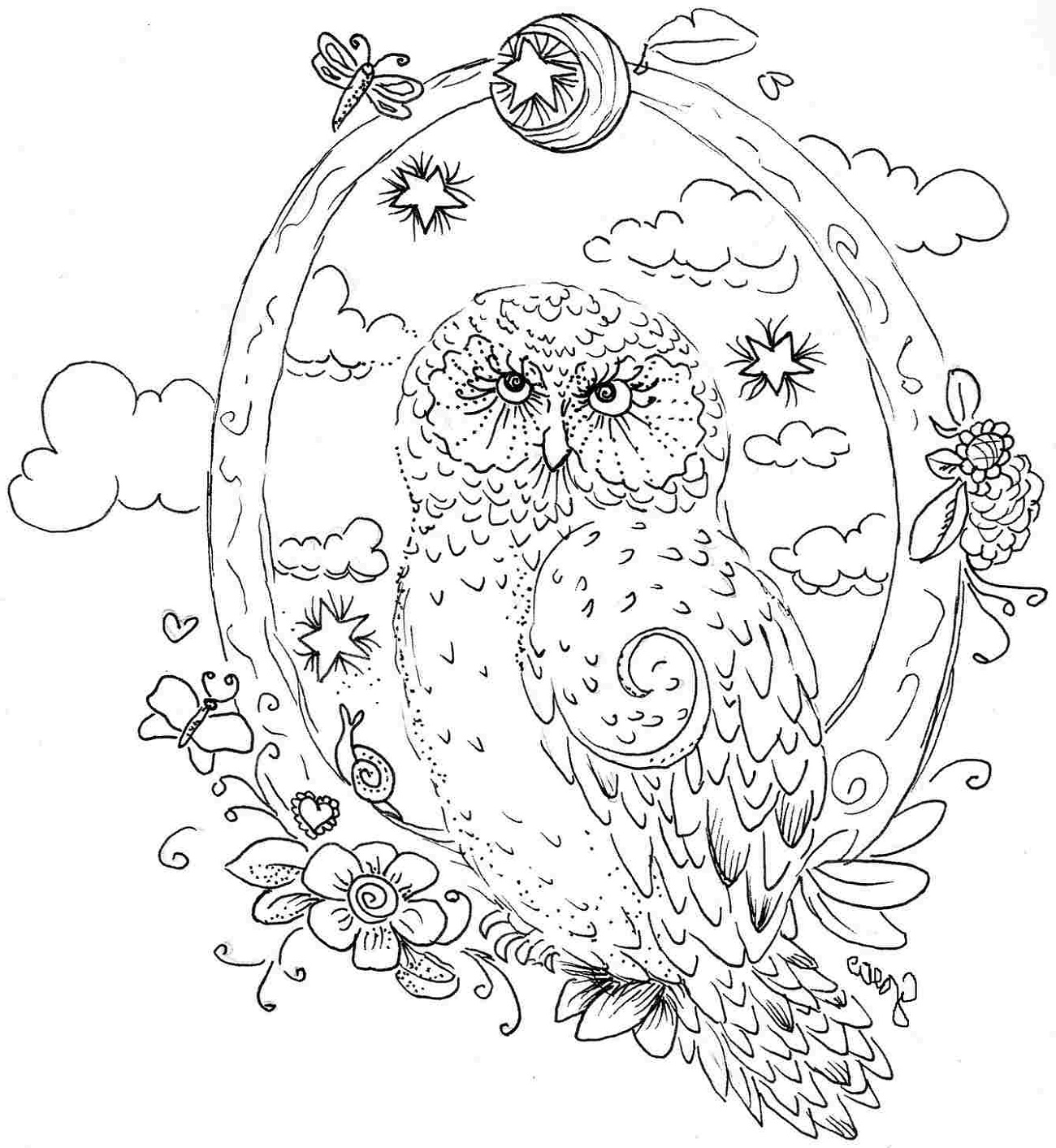 Coloring Pictures Of Animals For Adults