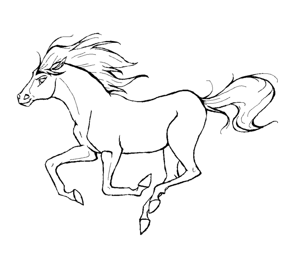 Coloring Pictures Of Animals Horse
