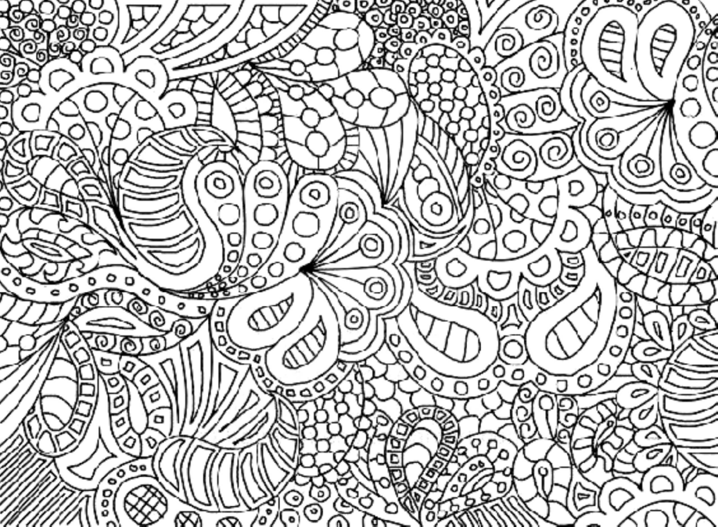 Complex Coloring Pages Flower