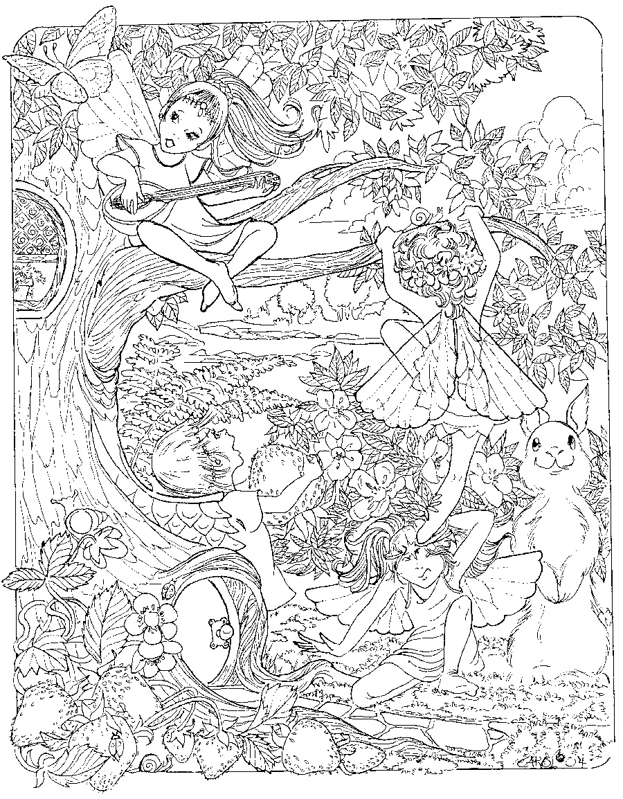 Complex Coloring Pages Free