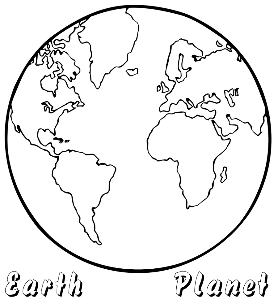 Earth Coloring Pages Planet