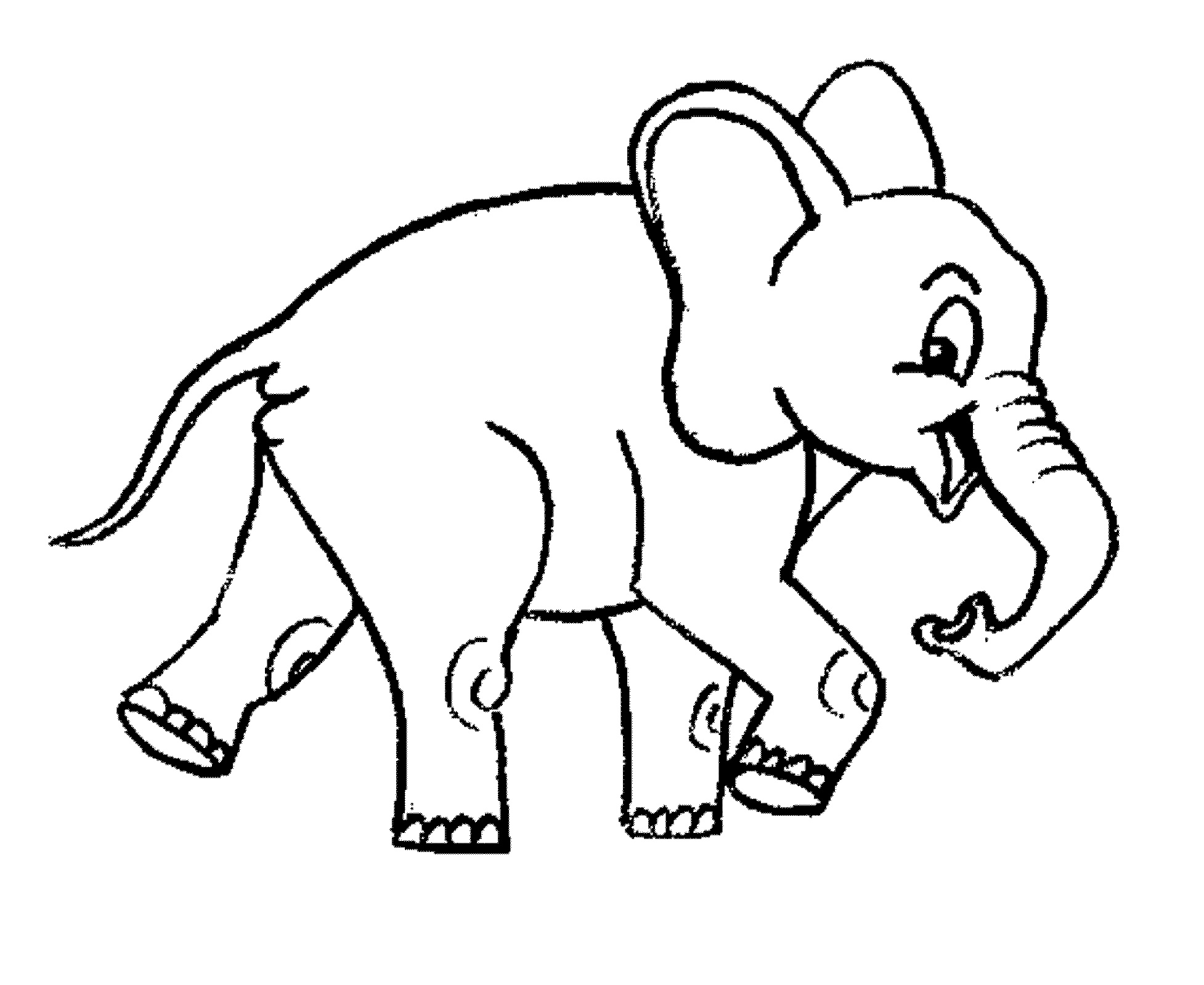 Elephant Coloring Pages Cartoon