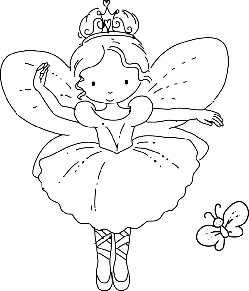 Fairy Coloring Pages Cute