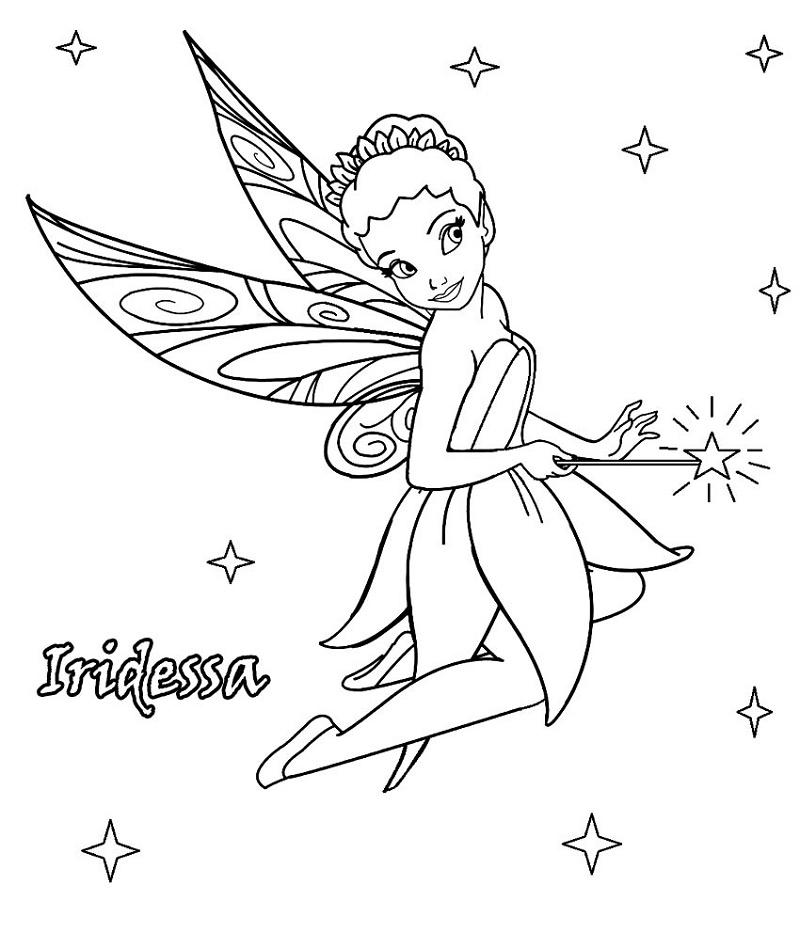 Fairy Coloring Pages Disney Iridessa