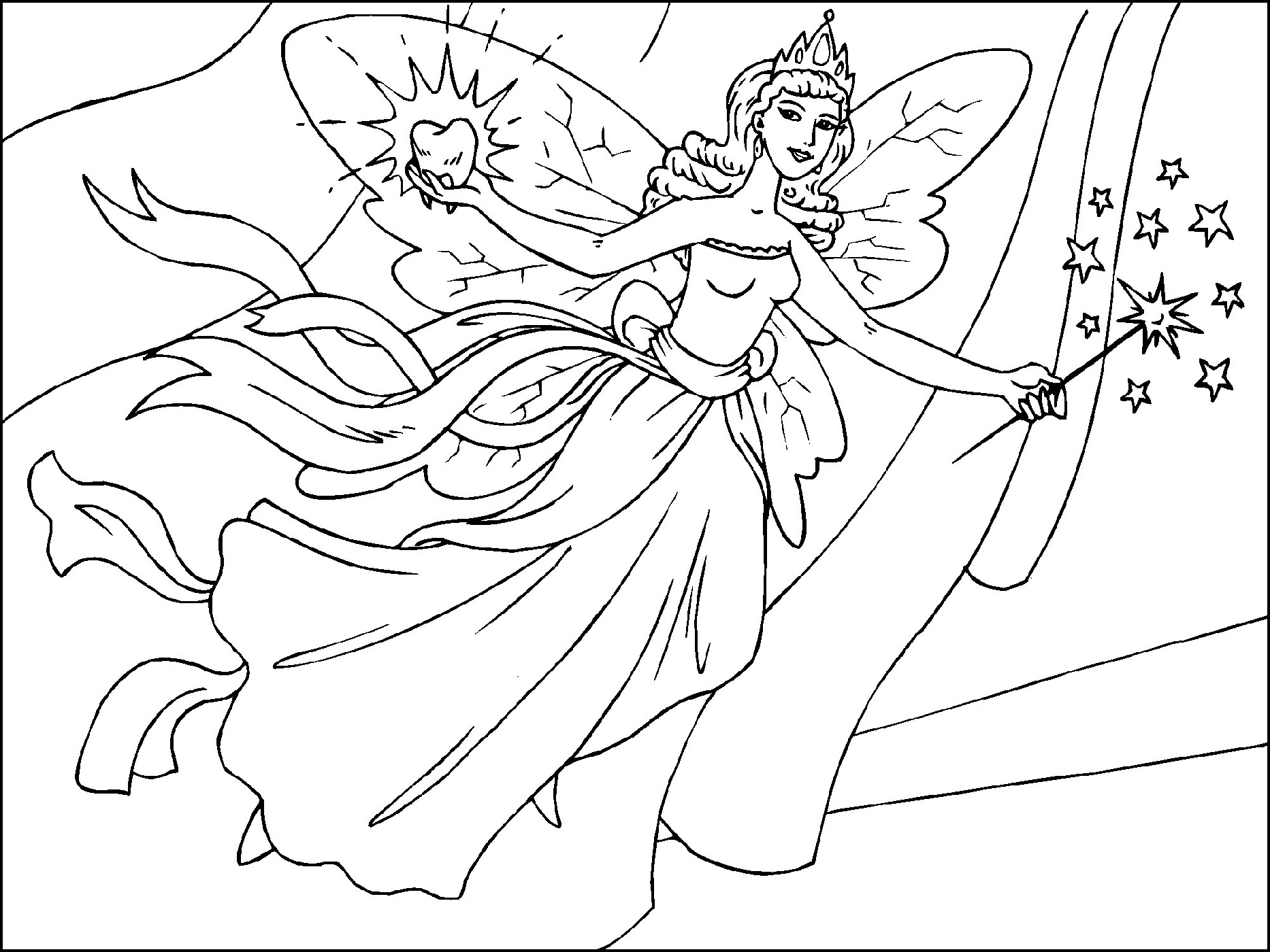 Fairy Coloring Pages Free