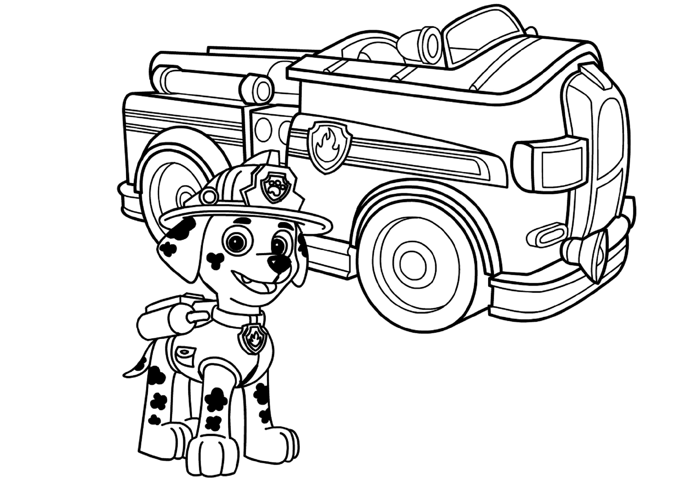 Fire Truck Coloring Page Paw Patrol
