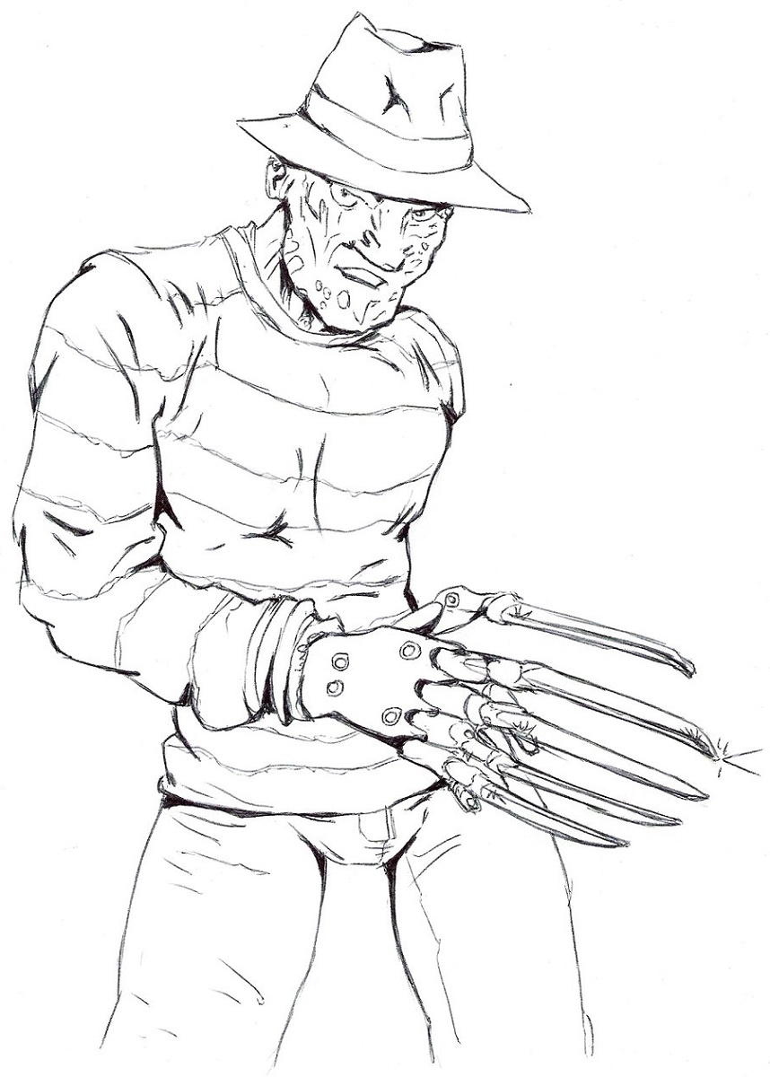 Freddy Krueger Coloring Pages Free