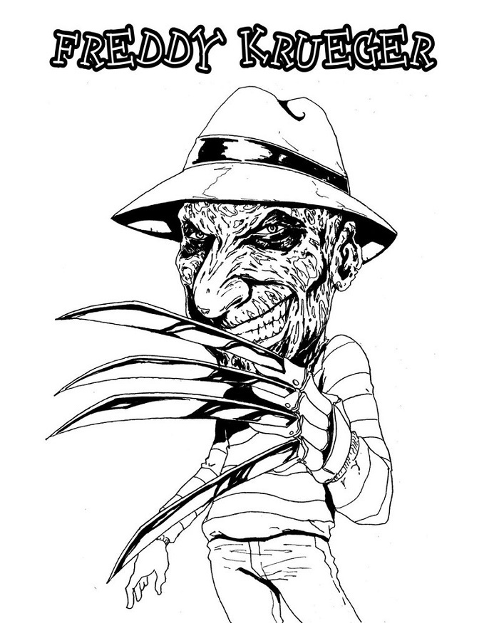 Freddy Krueger Coloring Pages Online