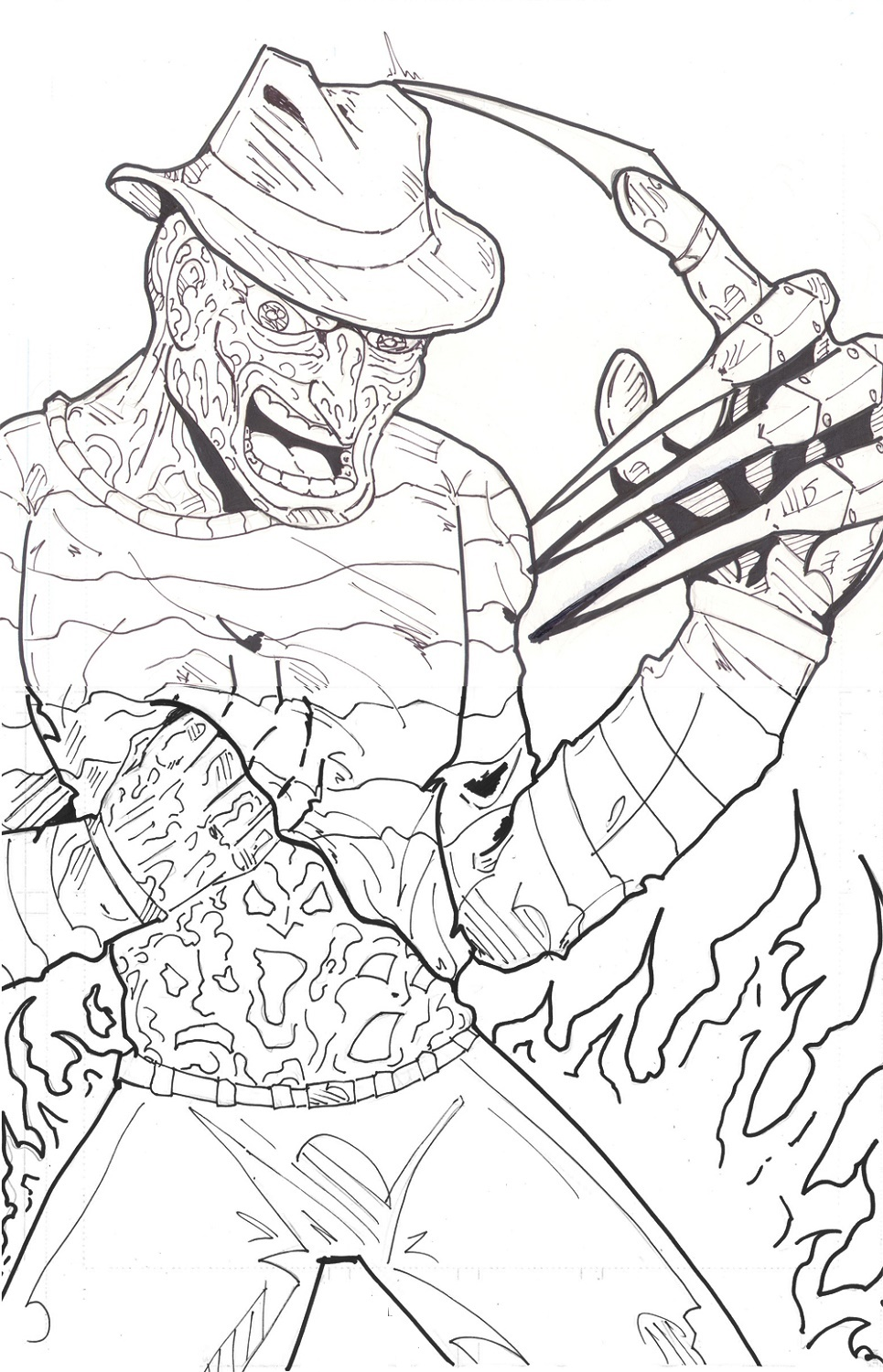 Freddy Krueger Coloring Pages Pictures