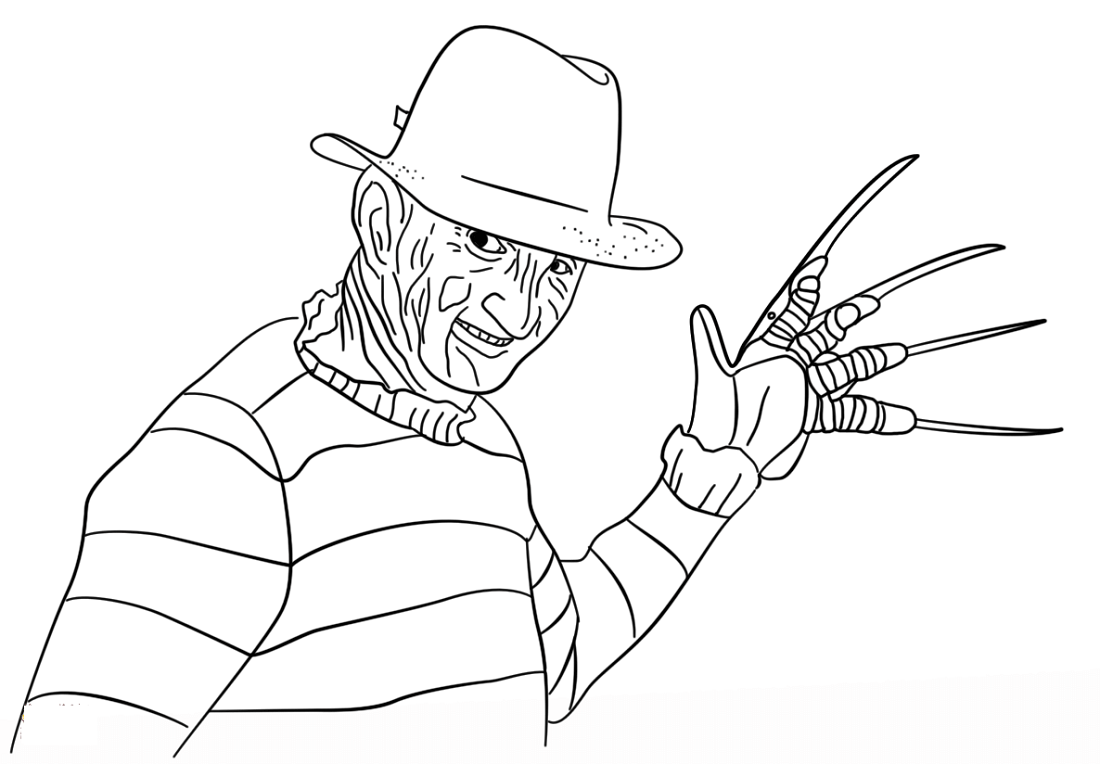 Freddy Krueger Coloring Pages To Print