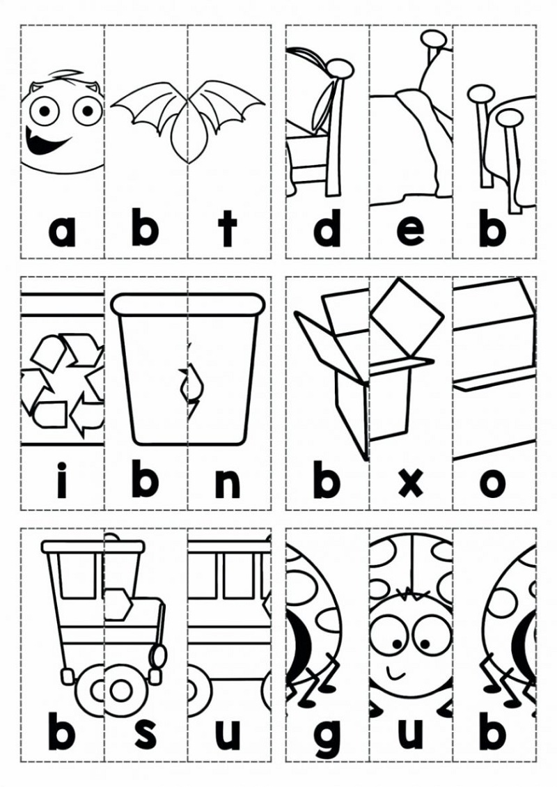 Free Kids Activity Pages Alphabet Puzzle