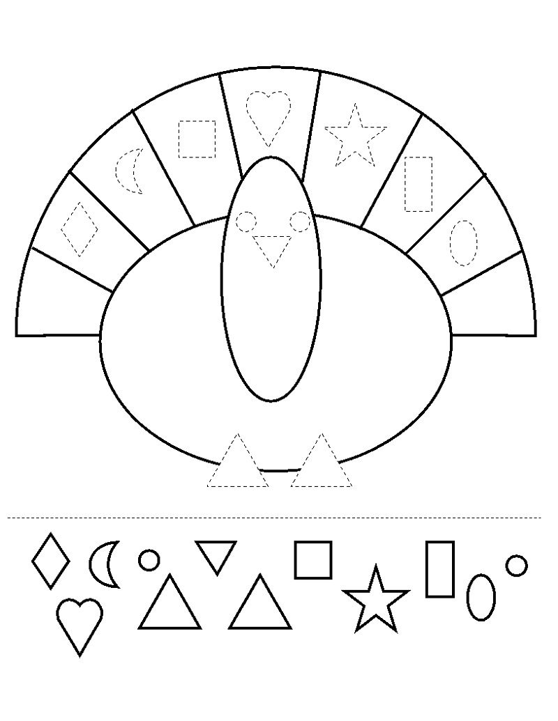 Free Kids Activity Pages Shapes