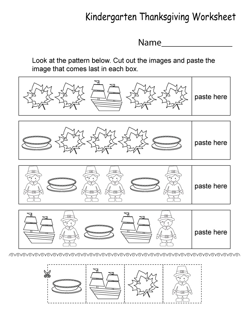Free Printable Worksheets Pattern