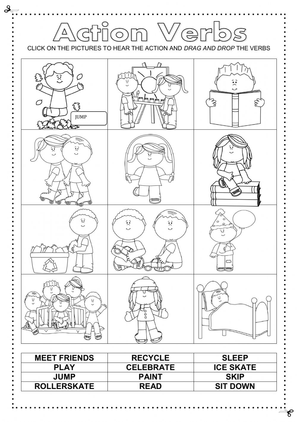 Free Printing Worksheets Esl