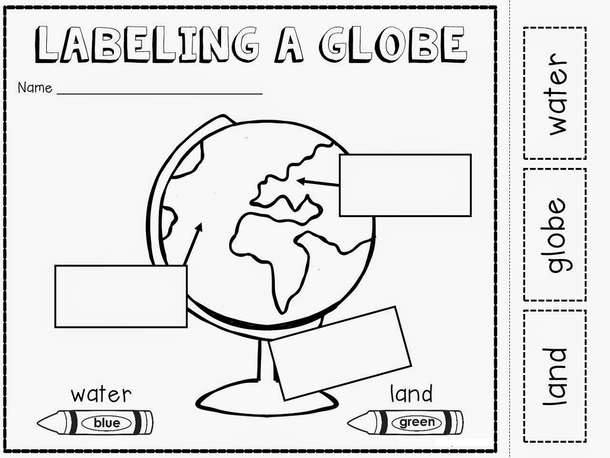 Geography Worksheets Globe