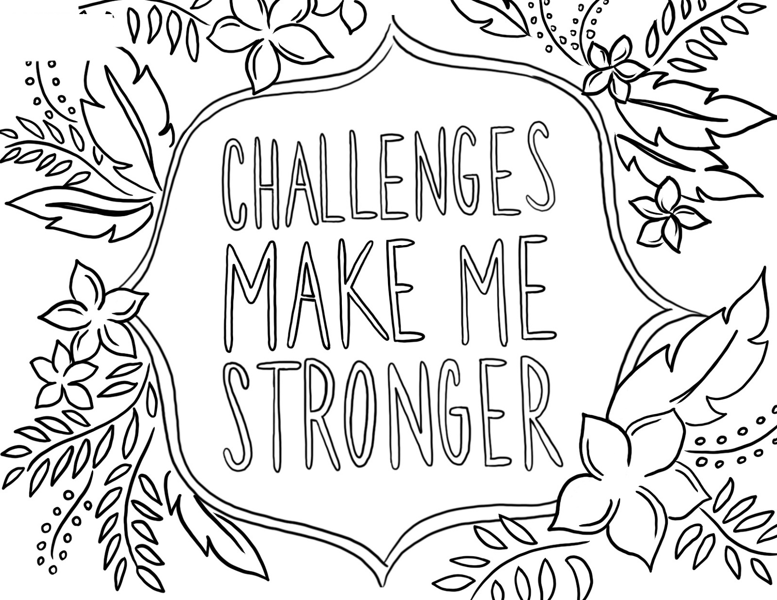 Growth Mindset Coloring Pages Free