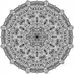 Hard Coloring Pages Mandala