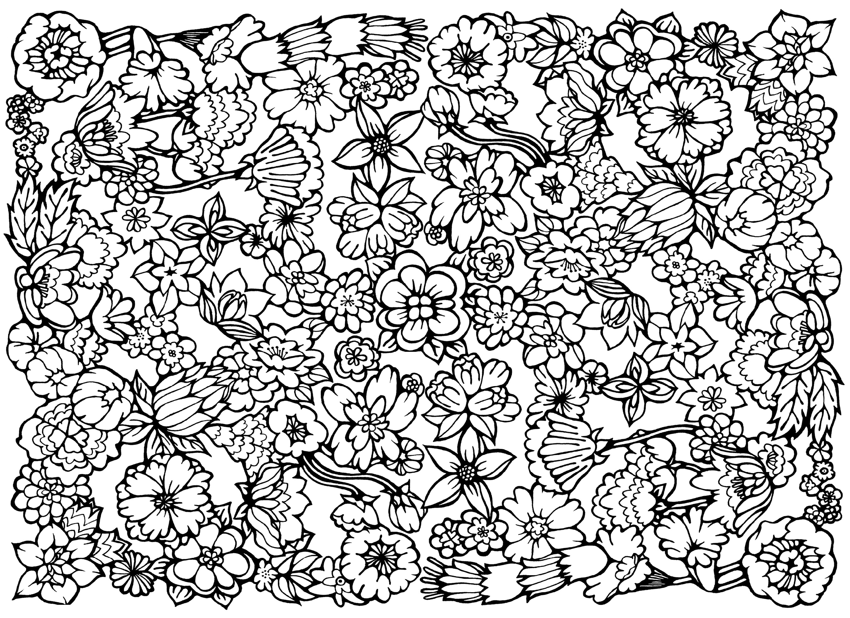Hard Coloring Pages Pattern