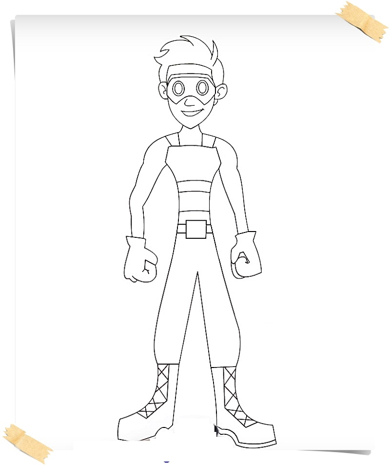 Henry Danger Coloring Pages Captain Man