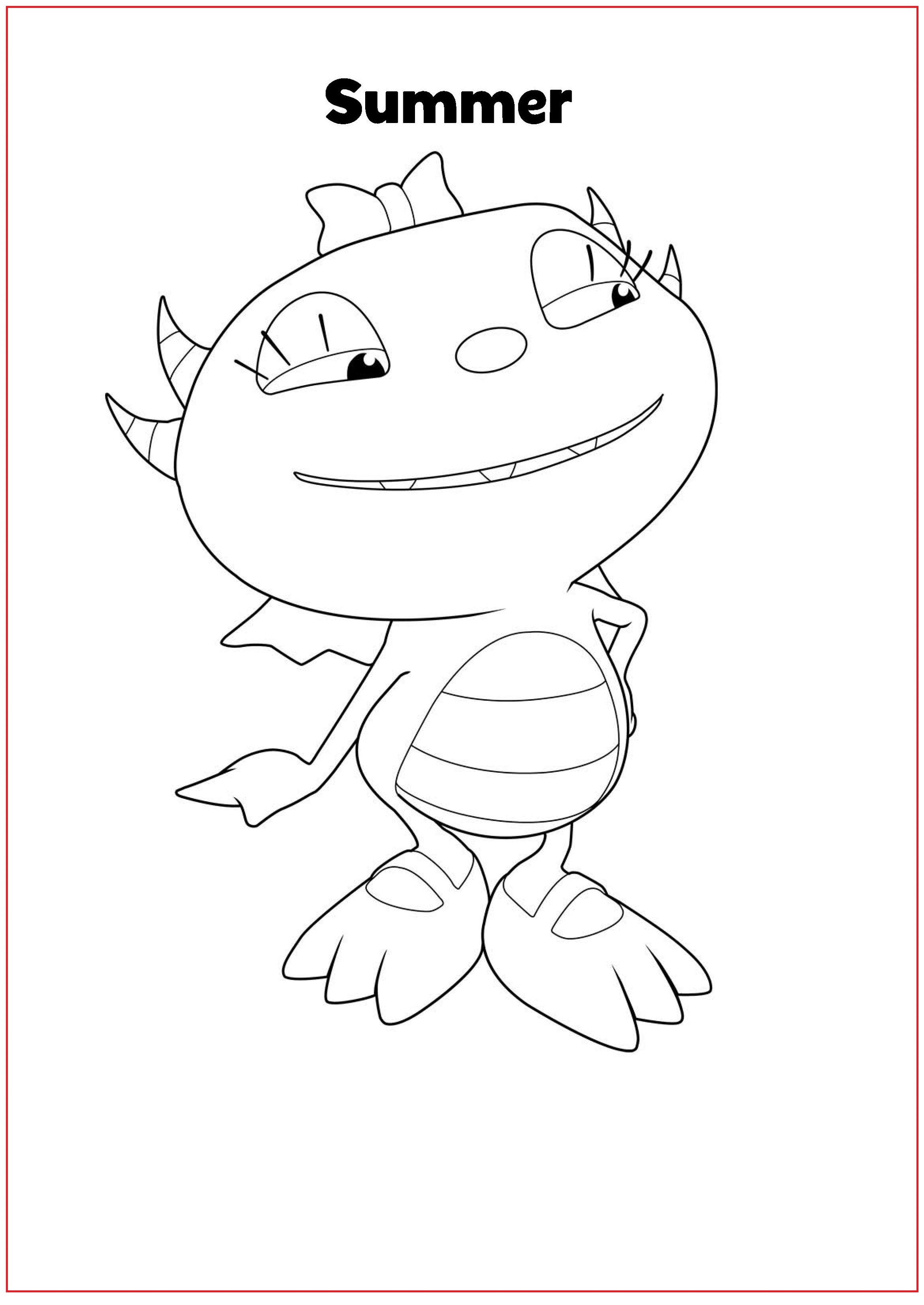 Henry Danger Coloring Pages Summer