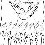 Holy Ghost Coloring Page Free