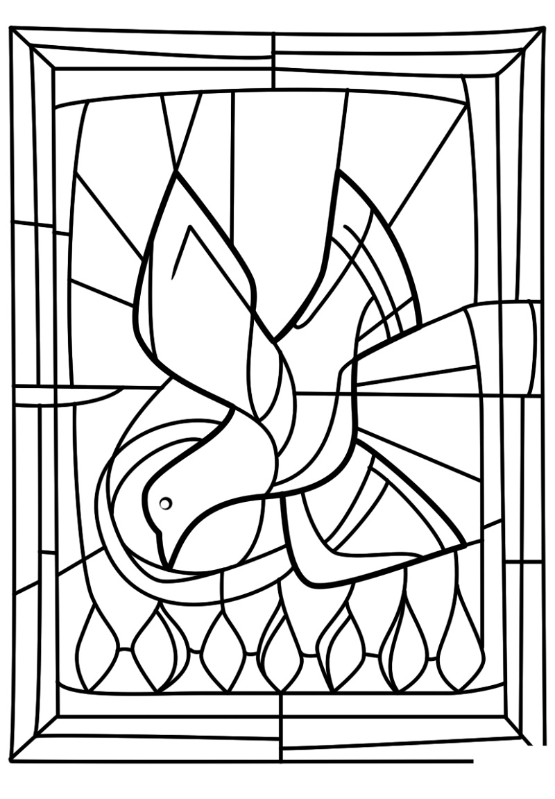 Holy Ghost Coloring Page To Print