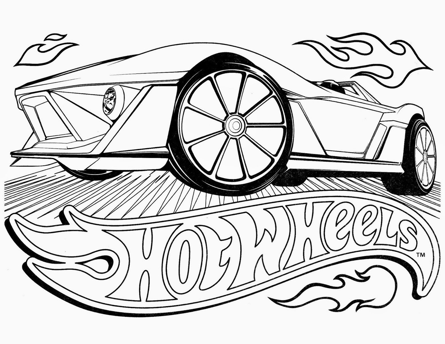 Hot Wheels Coloring Pages Cars