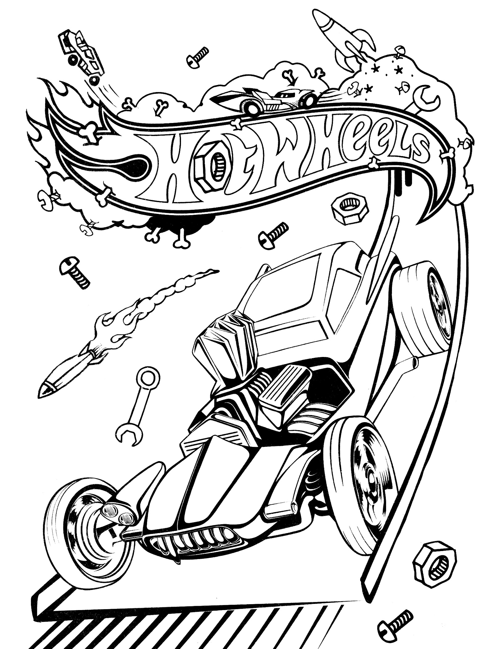 Hot Wheels Coloring Pages Pictures