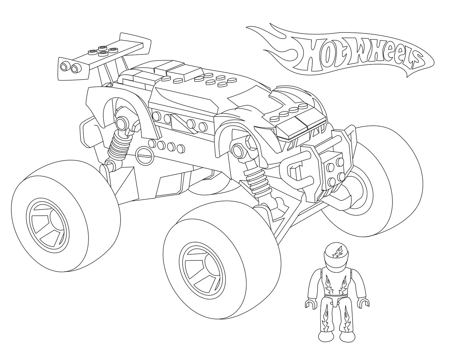 Hot Wheels Coloring Pages Trucks