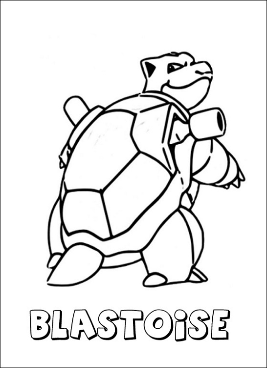 Blastoise Coloring Page Pictures