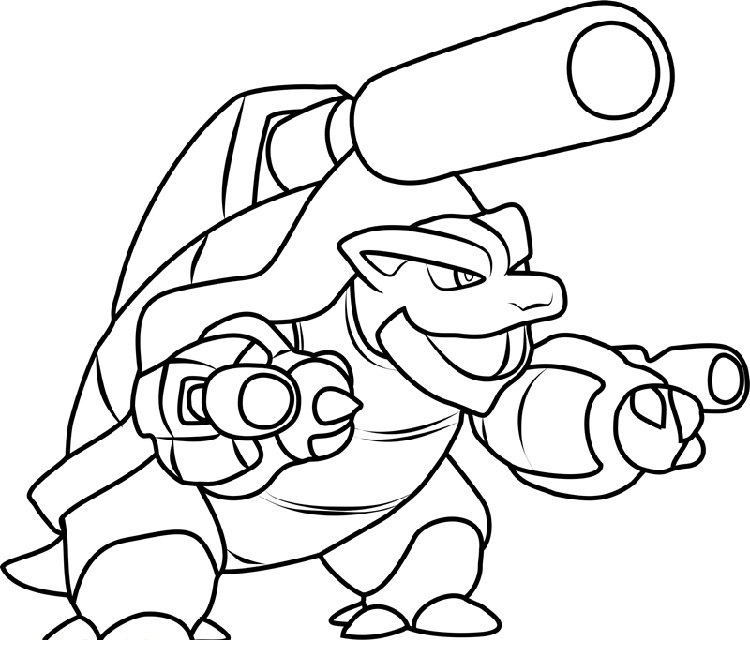 Blastoise Coloring Page To Print