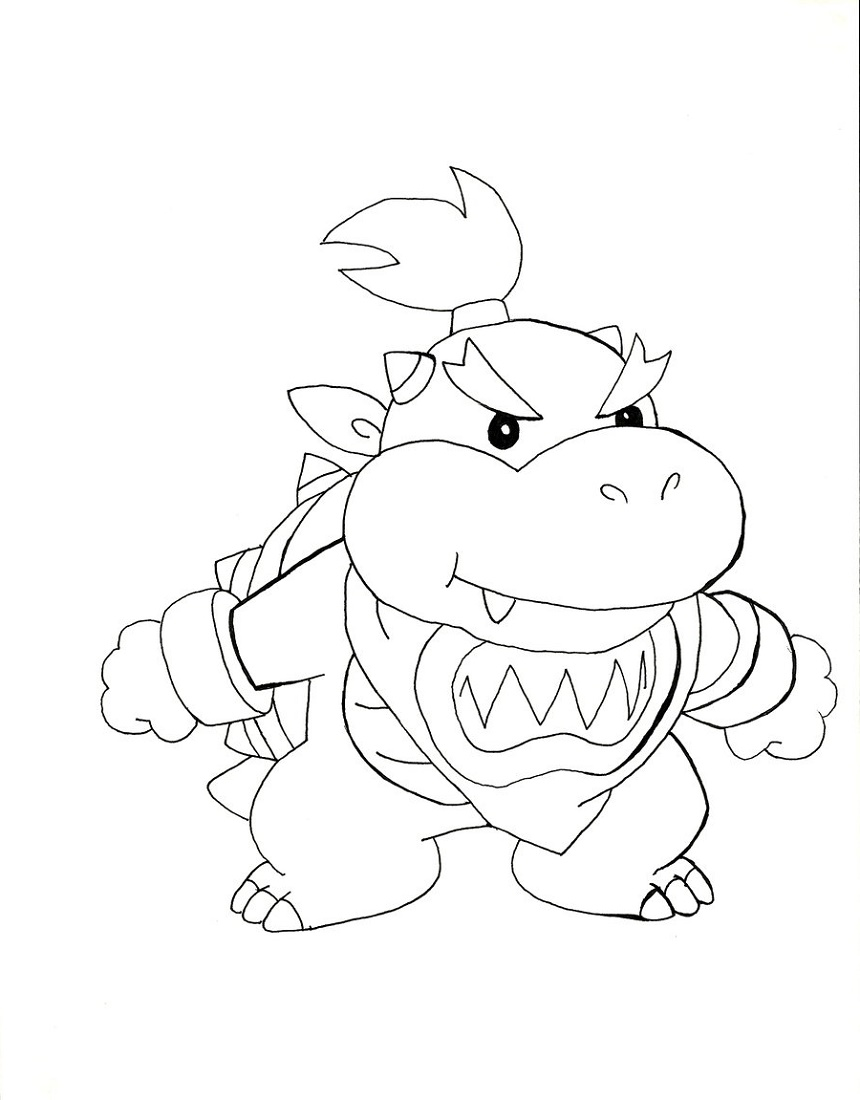 Bowser Jr Coloring Pages Free