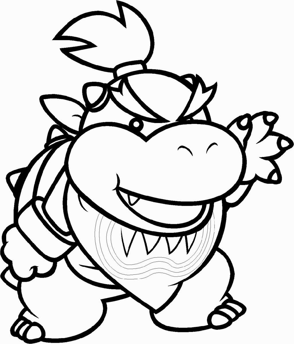 Bowser Jr Coloring Pages Printable