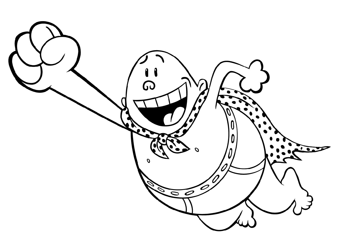 Captain Underpants Coloring Pages Free