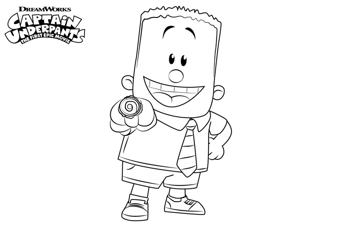 Captain Underpants Coloring Pages George