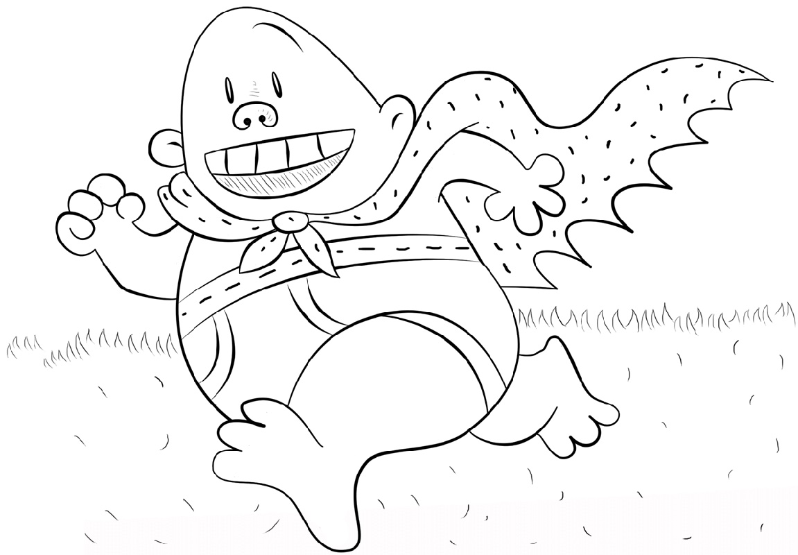 Captain Underpants Coloring Pages Printable