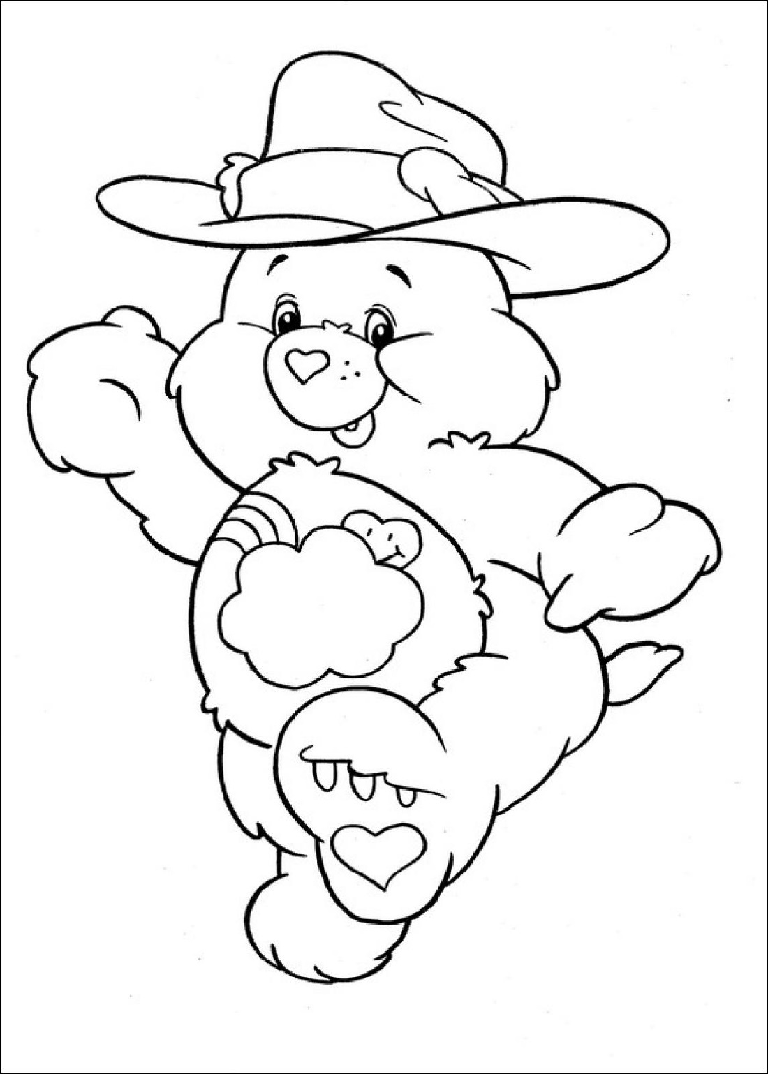 Care Bear Coloring Pages Cowboy