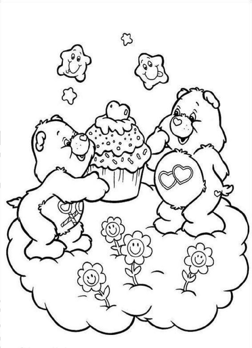 Care Bear Coloring Pages Cupcake