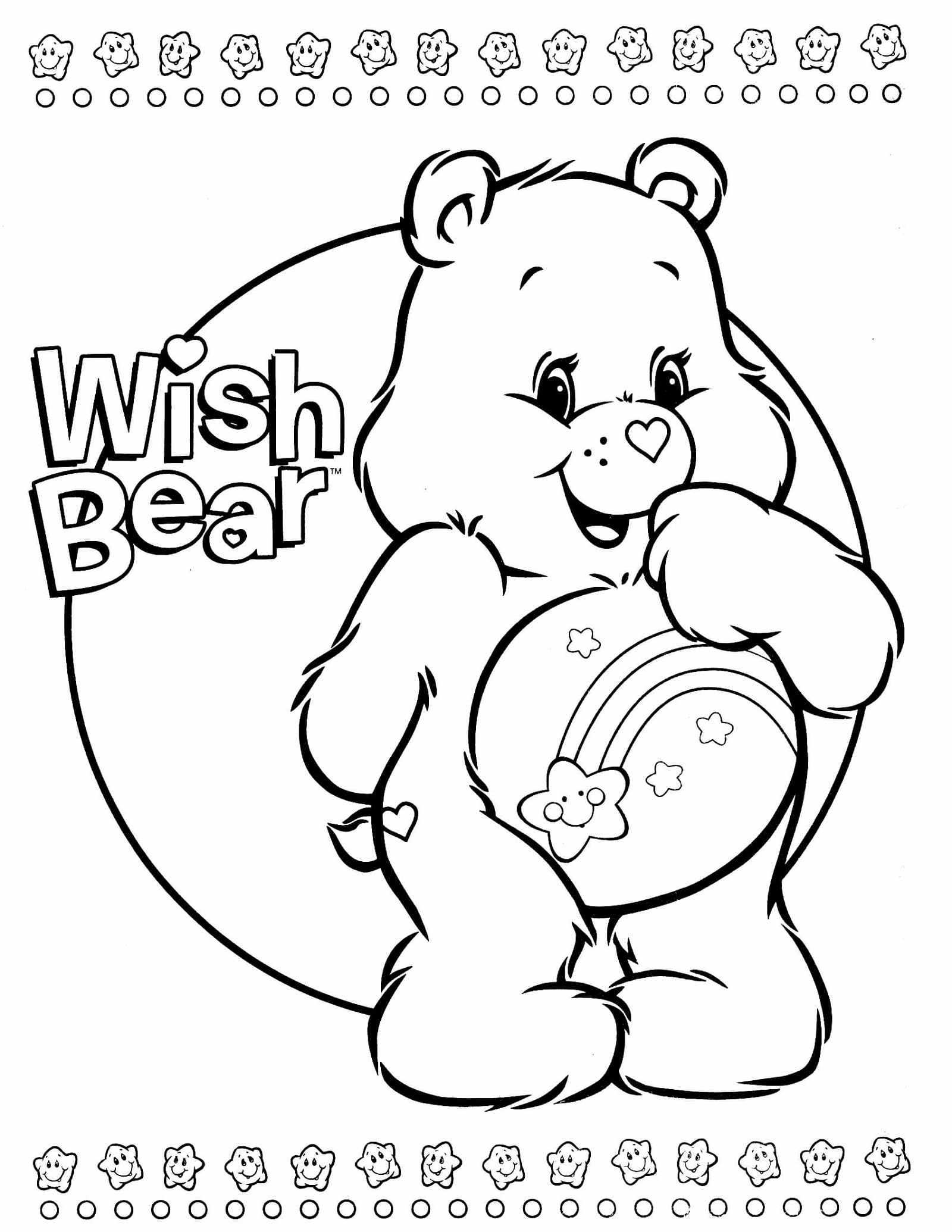 Care Bear Coloring Pages Wish Bear
