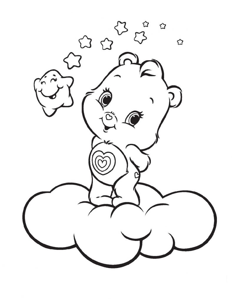 Care Bear Coloring Pages Wonderheart