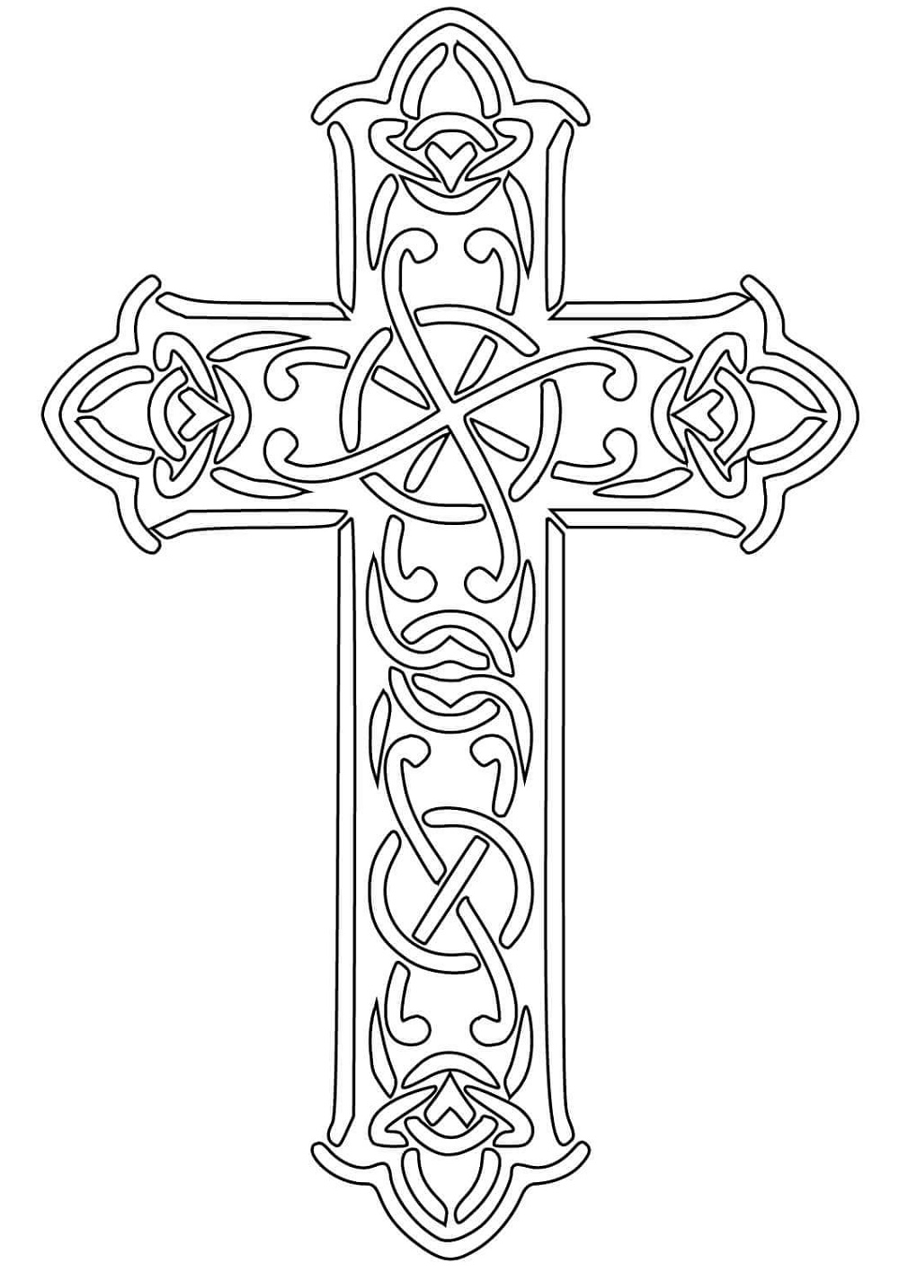 Cross Coloring Pages Celtic