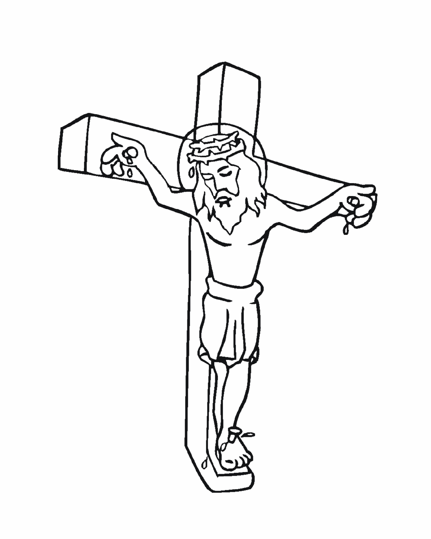 Cross Coloring Pages Jesus
