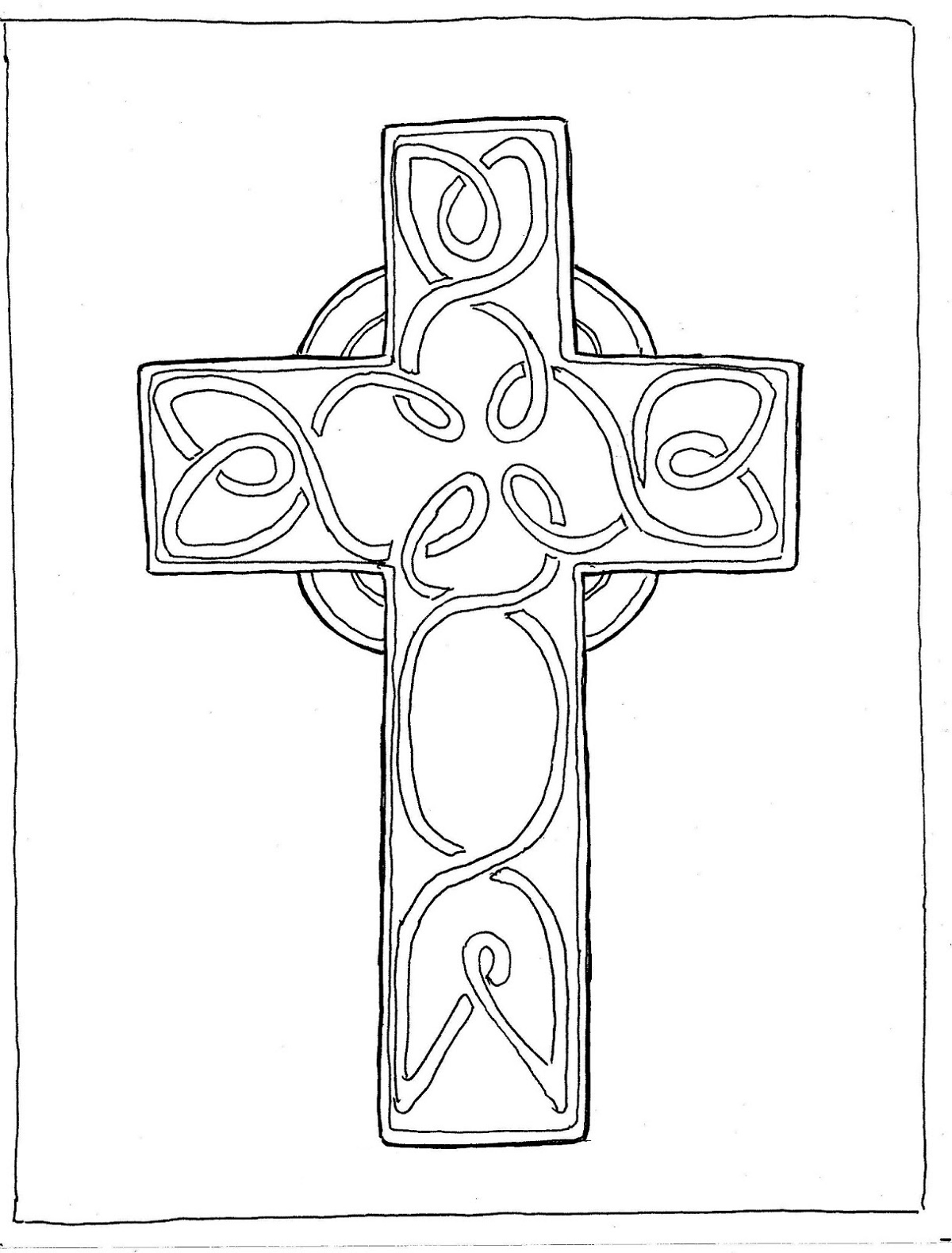 Cross Coloring Pages St Patrick