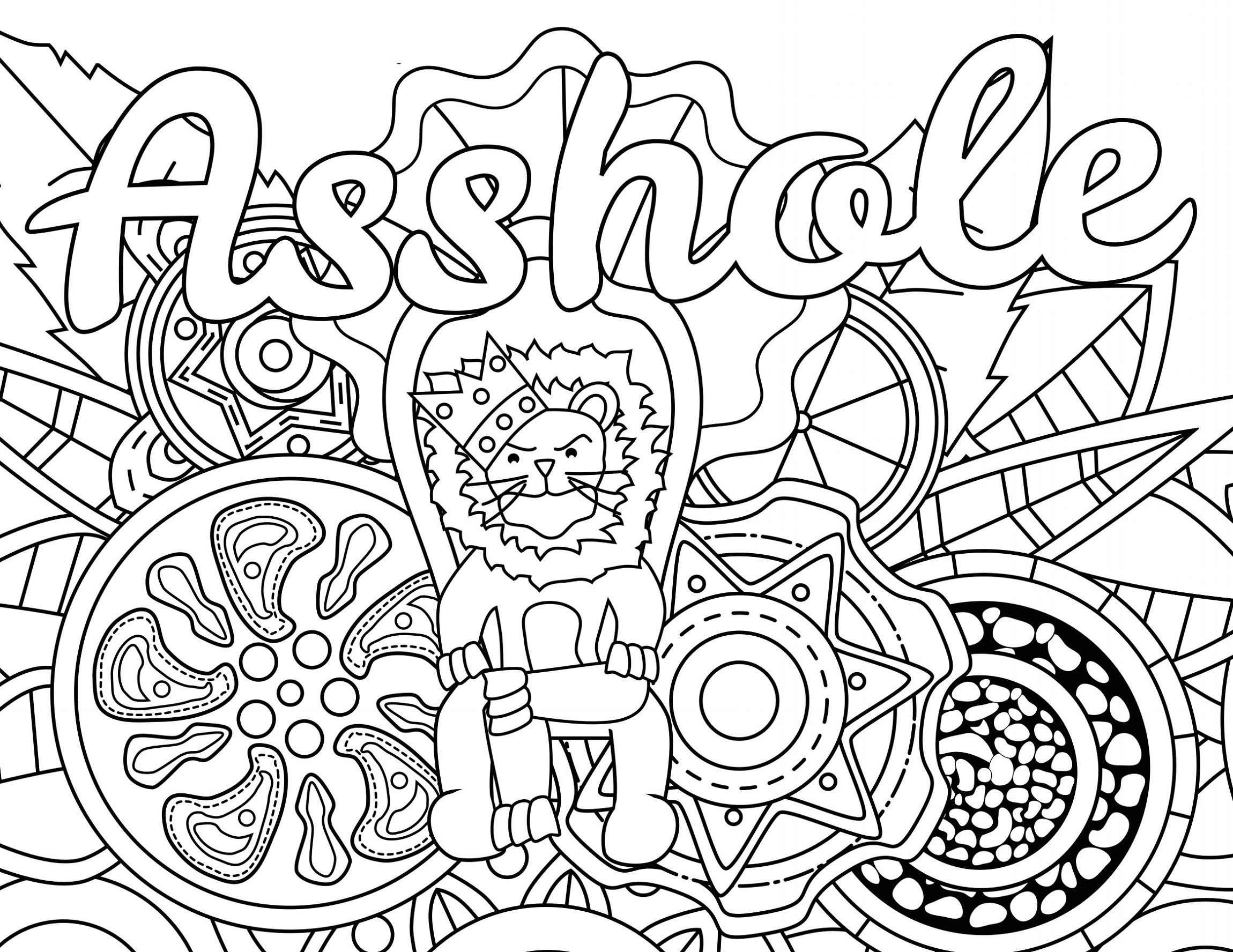 Curse Word Coloring Book Asshole