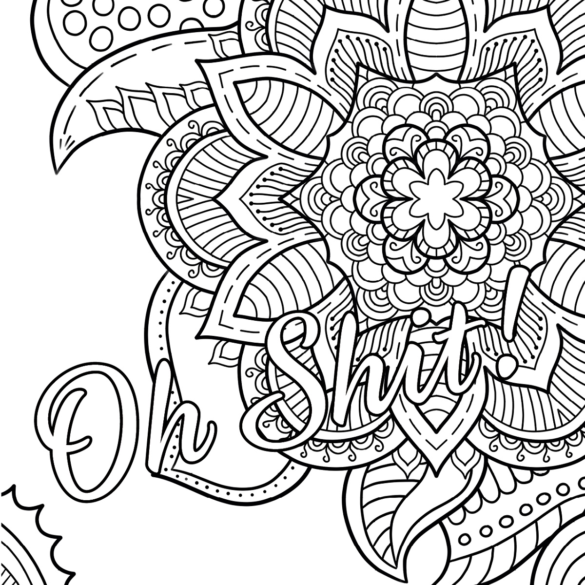 Curse Word Coloring Book Oh Shit