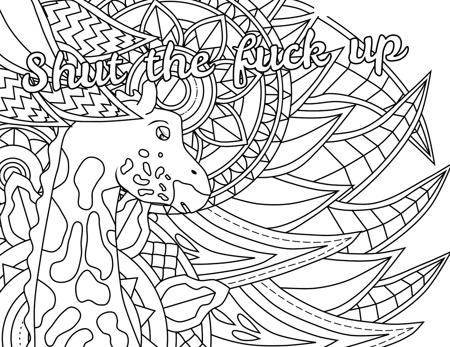 Curse Word Coloring Book Printable