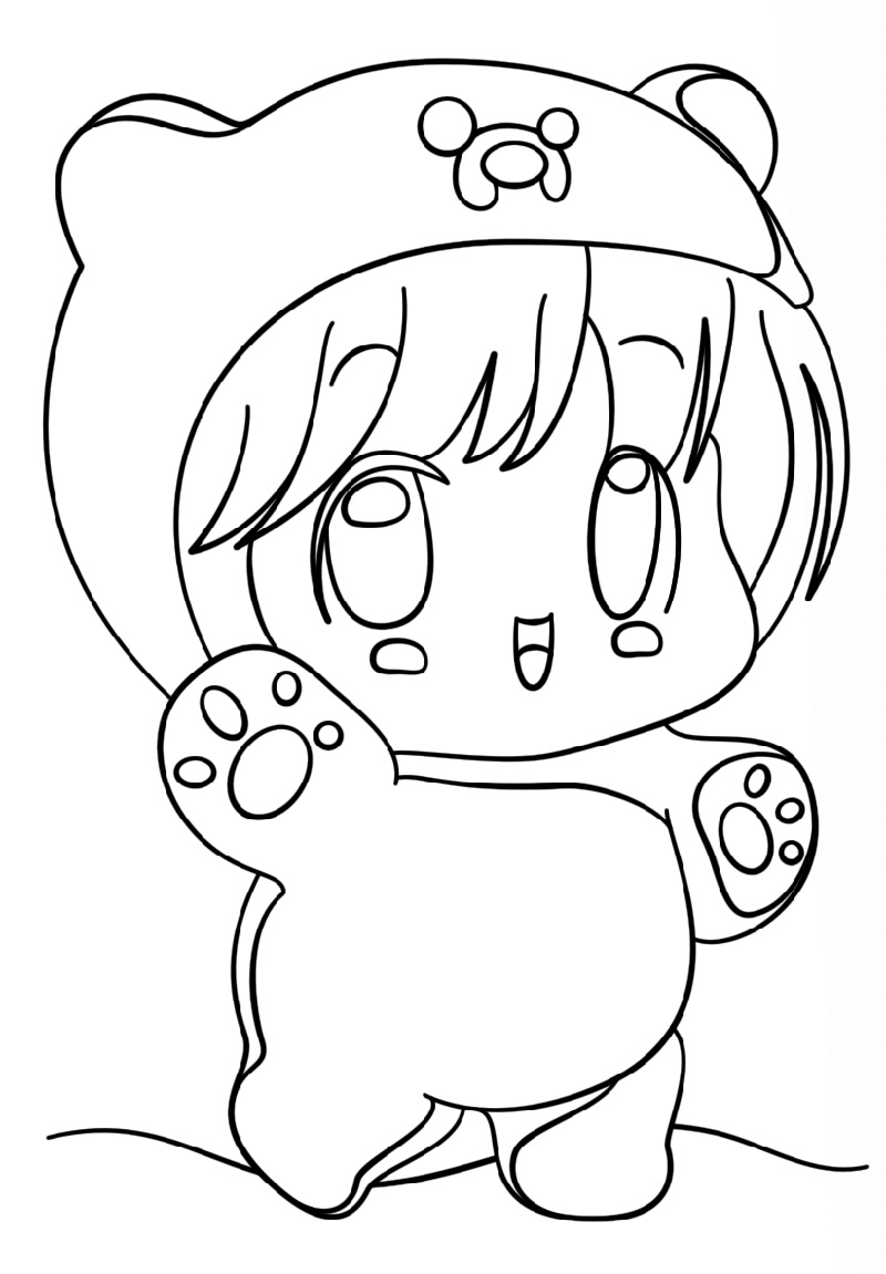 Ddlg Coloring Pages Kawaii